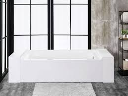 finesse fbt florence 6034 r ch florence 60 inch x 34 inch alcove acrylic soaking bathtub in white with right drain