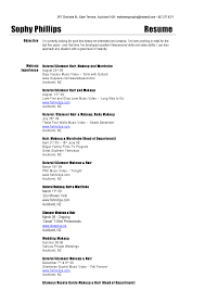 Resume For Makeup Artist Makeup Artist Resume Sample Experience Best Ideas Of Professional 11