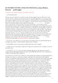 Il Significato Del Disegno Infantile Anna Oliviero Ferraris Docsity