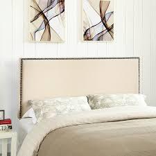 amazoncom  modway region upholstered linen headboard queen size