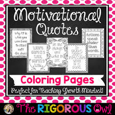 Quotes About Change And Growth Enchanting Motivational Quotes Coloring Pages Growth Mindset By The Rigorous Owl