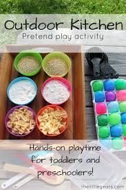outdoor kitchen pretend play for kids toddler activitiesactivities outdoor activities preschoolers e58 for