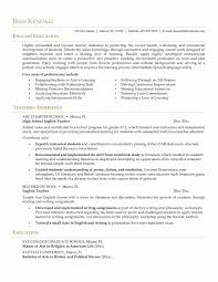 Sample Resume For English Teachers 24 Beautiful Elementary Teaching Resume Examples Daphnemaia 18