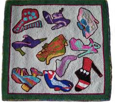 Shoe Rug New Crazy Shoes By Melissa Eisenbach Pattern Only Or Complete