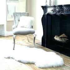 faux fur rug white big