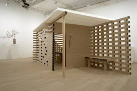 cardboard tube furniture. The Paper Tea House Is Made Of Square Tubes. Walls Are Connected By A Cardboard Tube Furniture