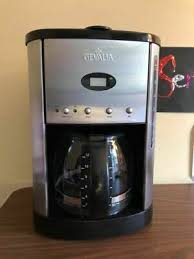 Mine now is right at 20 years old, but still works perfectly, even the hot plate, although that shows great signs of wear. Gevalia 12 Cup Coffee Maker Xcc 12 Black Stainless Programmable 43 50 Picclick