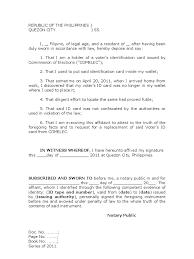 Affidavit Of Loss Id Sample