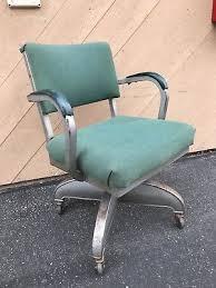 vintage metal office chair. Vintage Metal Fabric DOMORE Propeller Tanker Swivel Industrial Office Chair
