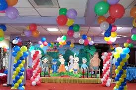 balloon decoration ideas for birthday party at home in india theme