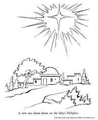 Small Picture The Christmas Story Coloring Pages Star over Bethlehem
