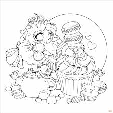 Small Picture Chibi Girl Coloring Pages Cupcake Girl Coloring Page Free