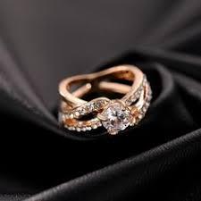 <b>HOMOD</b> 2019 New Fashion Women Ring Finger Jewelry Rose <b>Gold</b> ...