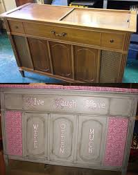 Repurposing Before And After Pics Repurposing A Vintage Stereo Cabinet Into A