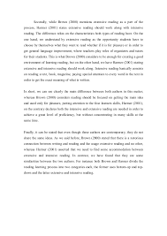 comparative essay on reading 4