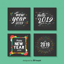 new year colorful frames cards pack free vector