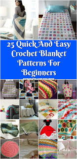 Easy Crochet Blanket Patterns For Beginners Mesmerizing 48 Quick And Easy Crochet Blanket Patterns For Beginners DIY Crafts