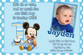 baby mickey mouse invitations birthday mickey mouse 1st birthday invitations for girls and boys party xyz