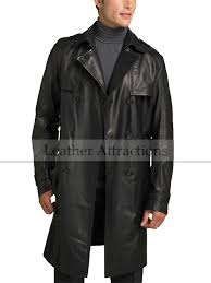 men s knee length leather duster coat 320 00 270 00