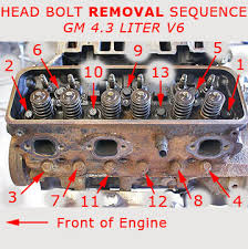 how to remove cylinder heads part 1 rebuilding an engine to fix cylinder head bolt removal sequence chevy gmc 4 3 liter v6 engine