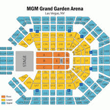 Mgm Grand Vegas Seating Chart Expository Mgm Grand Garden Arena Seating Chart With Rows