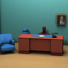 luxury inspiration spiderman at desk behind a in 3d by daisyahoy on deviantart