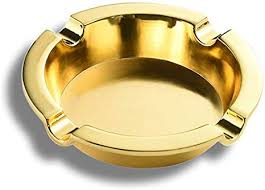 Amazon.com: Ashtray-Zinc Alloy <b>Chinese Style Golden Retro</b> ...