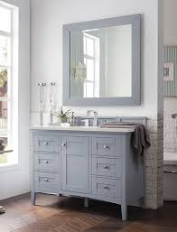 james martin palisades single 48 inch transitional bathroom vanity silver gray
