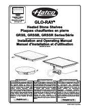 hatco grssb 6018 glo ray heated stone shelf at ckitchen com specsheet pdf installation operation pdf