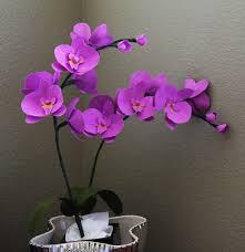 Paper Orchid Flower Buy Or Diy Paper Wedding Flowers