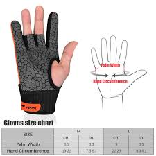 Bowling Glove Size Chart 1 Pair Boodun Men Women Bowling Glove For Left Right Hand Anti Skid Soft Sports Bowling Ball Gloves Bowling Accessories Mittens