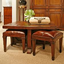 coffee table with 4 nesting stools