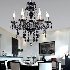 Us 1197 5 Offschwarz Kristall Kronleuchter Frankreich Design K9 Lüster Leuchte 6 Köpfe Diy Kunst Kronleuchter Leuchtet Kerze Flamme Anhänger Lampe