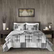 Woolrich Riverview Gray Reversible Oversized Cotton Percale Quilt ... & Woolrich Riverview Gray Reversible Oversized Cotton Percale Quilt Mini Set  - Free Shipping Today - Overstock.com - 24204556 Adamdwight.com