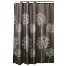 interdesign shower curtains dandelion shower curtain in cocoa interdesign astor shower curtain tension rod