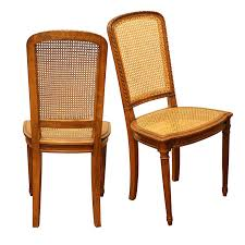 french cane chair. Set Of Eight French Vintage Dining Chairs With Cane Seats And Backs, Circa 1950 Chair