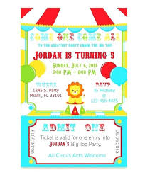 Carnival Ticket Invitation Template Themed Invitations Templates ...
