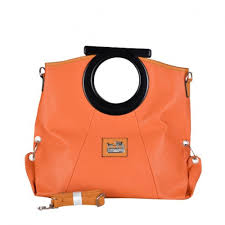 Coach Logo Medium Orange Totes DWU