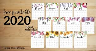 Daily Planner Template 2020 Floral Monthly Planner Template Pages Free Printable Paper