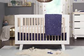 Hudson 3-IN-1 Convertible Crib in White with Washed Natural by Babyletto