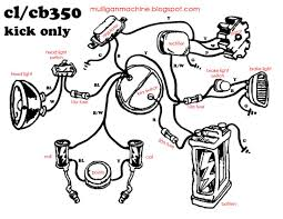 simple wiring diagram honda cb550 typo biker art honda cb350 simple wiring diagram google search