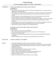 Global Travel Retail Resume Samples Velvet Jobs