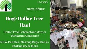 huge dollar tree haul 10 15 18 new finds cobblestone miniatures decor stationery makeup bags