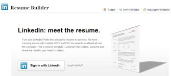 Linkedin Resume Builder Amazing Resume Builder Create A Resume From Your LinkedIn Profile