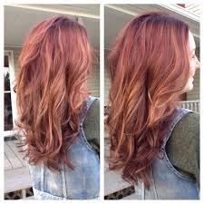 Red Base With Blonde Peek A
