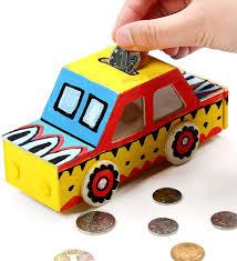 Diy Car Design Amazon Com Outgeek 4pcs Coin Bank Diy Blank Painting Car
