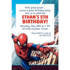 Spiderman Template Spiderman Invitation Card Template Invitation Card