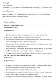resume for human resources manager sample resume for hr keralapscgov