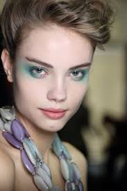 giorgio armani s international make up artist linda cantello was inspired by the fl prints and colours in the collection makeup trends 2016 cc thru