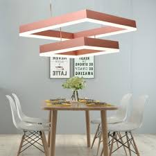 post modern brushed aluminum rose gold chandelier for dining room kitchen 30 80w tiered frosted